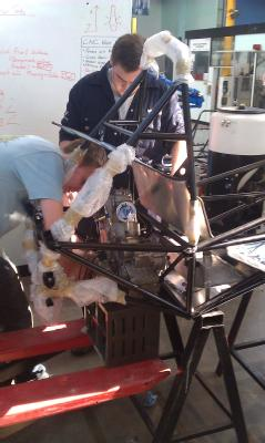 Engine going in