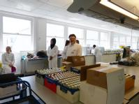 Delivering solutions and microscopes to Chemistry lab
