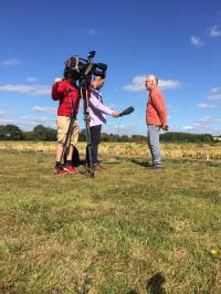 Prof Eric Holub being interviewed by the BBC