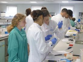 Students working in the lab as part of Headstart course