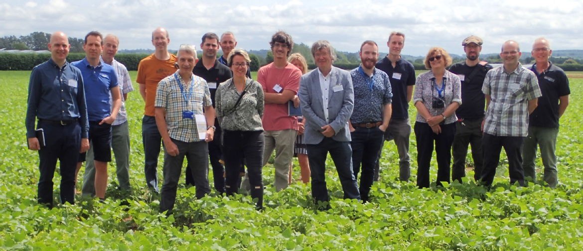 Phenom UK participants standing in a field of haricot beans