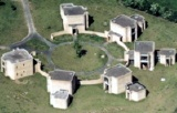 Aerial photograph of Maths Houses