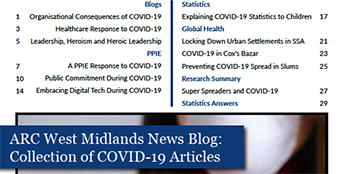 Collection of news blog articles on COVID-19