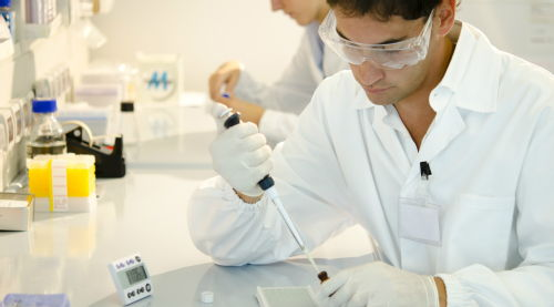 male researcher in lab