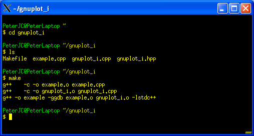 Cygwin - Part Six - Using gnuplot from a C++ Program
