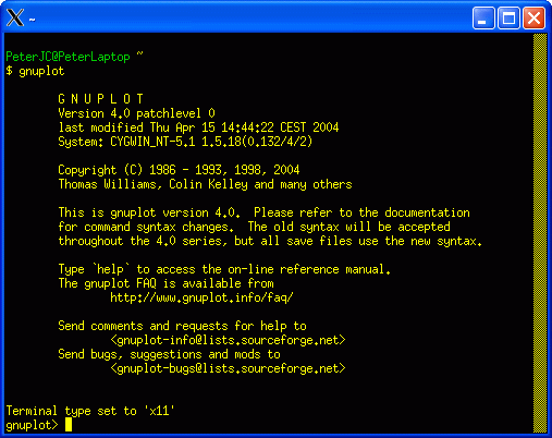 Cygwin - Part Five - Installing gnuplot
