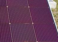 Amorphous silicon solar panel