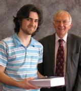 Prize awarded by Professor Cooper to D. Wellard for Best Overall Performance: Maths/Phys B. Sc. Graduating Class