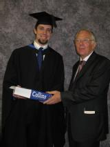 Prize awarded by Professor Cooper to Tim Davis for Excellence in the M.Phys. Project