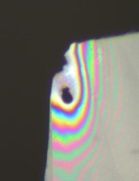 LED TEM sample interference patterns