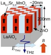 Colossal Terahertz Magnetoresistance at Room Temperature in Epitaxial La0.7Sr0.3MnO3 Nanocomposites and Single-Phase Thin Films,   J. Lloyd-Hughes, C. D. W. Mosley, S. P. P. Jones, M. R. Lees, A. Chen, Q. X. Jia, E.-M. Choi, and J. L. MacManus-Driscoll, Nano Letters 17, 2506, (2017).