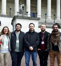 Group members at the Optical Terahertz Science and Technology conference, at UCL in April 2017.