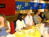 Left to right: Valentina Erastova, Durba Sengupta, Mark Wilson, Erich Muller; Peter Cummings and Roland Faller spot something flying overhead. In the foreground on the right: Siewert-Jan Marrink.