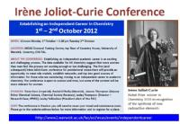 Irene Joliot Curie Conference Flyer