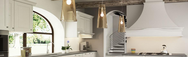 Establishing shot of a kitchen. Bellagio Stone turns taps on productivity.