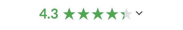 University glassdoor rating (4.3 stars).