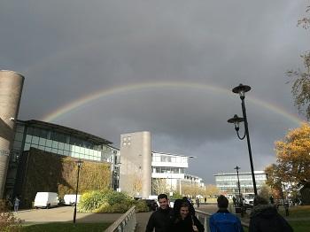 Rainbow across IMC