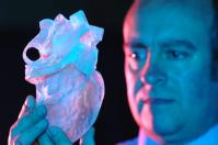 Dr Greg Gibbons with 3D Heart