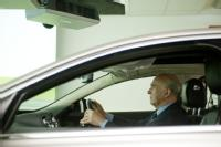 Dr Vince Cable in the vehicle simulator at WMG