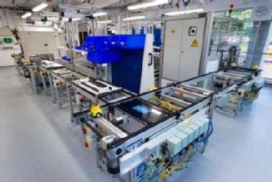 A battery production line at WMG