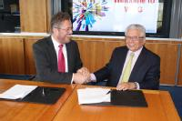 Dr Karl-Ulrich Kohler, Tata Steel, Managing Director and Chief Executive Officer with Professor Lord Bhattacharyya