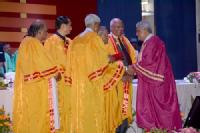 President of India presents Professor Lord Bhattacharyya with honorary degree