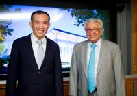 Lord Bhattacharyya with Mr Lim Chuan Poh, Chairman of A*STAR