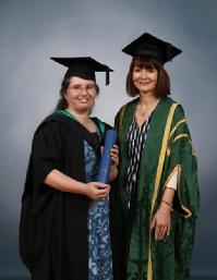 Margaret (left) winning Warwick Award for Teaching Excellence