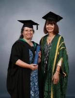 Margaret Low with Professor Christina Hughes