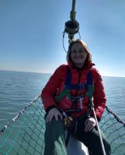 Mairi volunteering with the Jubilee Sailing Trust