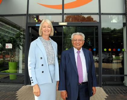 Margot James MP and Professor Lord Bhattacharyya 1st September 2016.