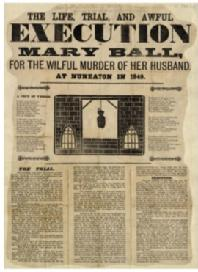 Image of the newspaper article about Mary Ball's execution
