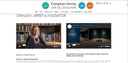 Picture: Compton Verney's homepage for the Cranach exhibition which opened in March 2020