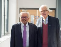 Professor Lord Bhattacharyya with Lord Baker