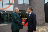Professor Lord Bhattacharyya greets Mr Hu Chunhua Party Sectretary Guangdong Province