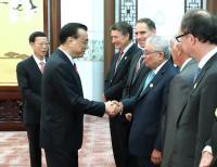 Professor Lord Bhattcharyya meeting with Premier Li Keqiang Setpember 29th 2017