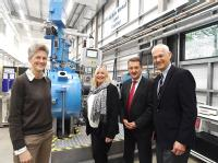 From the left, Professor Claire Davis (WMG), Alicia Law (Department for Business, Energy and Industrial Strategy), Nick Abell (CWLEP) and Jonathan Browning (CWLEP)