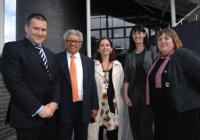 Siôn Simon MP with Professor Lord Bhattacharyya, Professor Lucy Hooberman, Professor Sadie Creese and Fiona Gordon