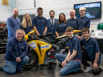 Electric superbike designed by students