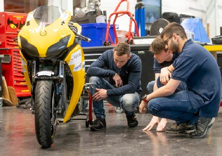 2. Electric superbike designed by students