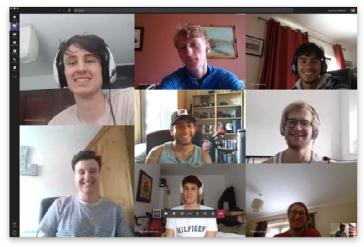The Warwick Moto Team meeting virtually