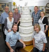 Queen's wedding cake resurrected with scanning tech for 70th Anniversary