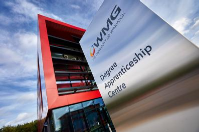 Establishing shot of WMG's Degree Apprenticeship Centre.