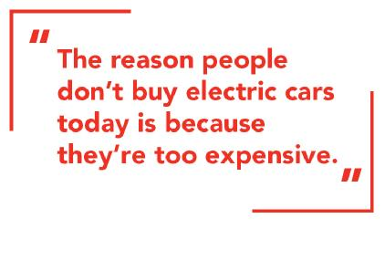 The reasons why people don't buy electric cars.