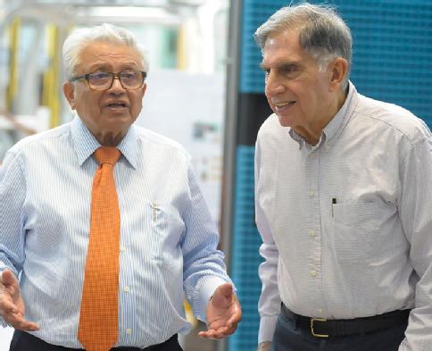 Professor Lord Bhattacharyya and Ratan Tata