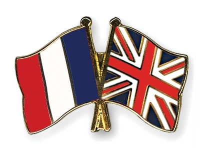 Image result for French UK flags