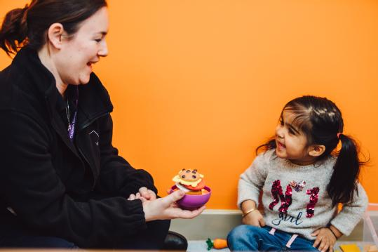 Click here for our Early Years PGCE. The picture is of a trainee teacher and child in one of our schools