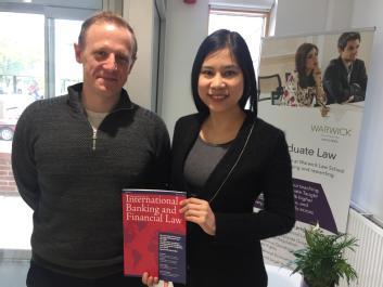 Stephen Connelly and PhD student Saveethika Leesurakarn