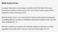 SLSA Article Prize Shortlist 2019
