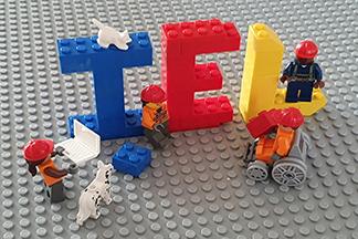 IEL logo in Lego
